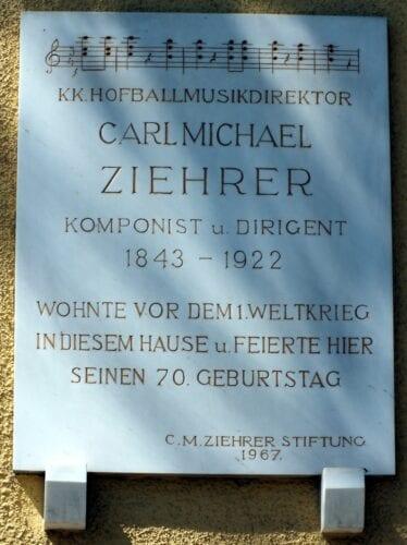 Ziehrer Gedenktafel in Baden bei Wien