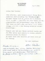 Brief Schönherr an Arleth 14.11.1983