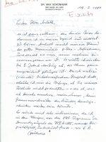 Brief Schönherr an Arleth 19.02.1984 – 1