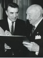 Hansl Schmid Ehrung durch Dr. Helmut Zilk