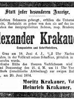 Alexander Krakauer Todesanzeige