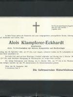 Alois Eckhardt-Klampferer Parte