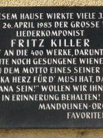Fritz Killer Gedenktafel – 1100, Favoritenstr. 106