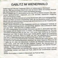 In Gablitz im Wienerwald – 2