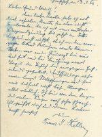 Karte Heller an Arleth 13.01.1960 – 2