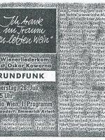 Radio Österreich 21.07.1962