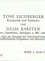 Visitenkarte Eichberger an Arleth – 1