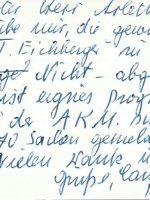 Visitenkarte Eichberger an Arleth – 2