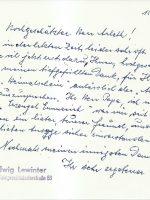 Brief Lewinter an Arleth 15.01.1967