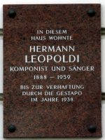 Leopoldi Gedenktafel Marxergasse 25