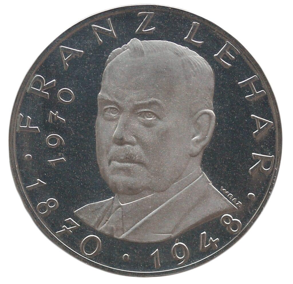 25 Schilling 1970 Franz Lehár