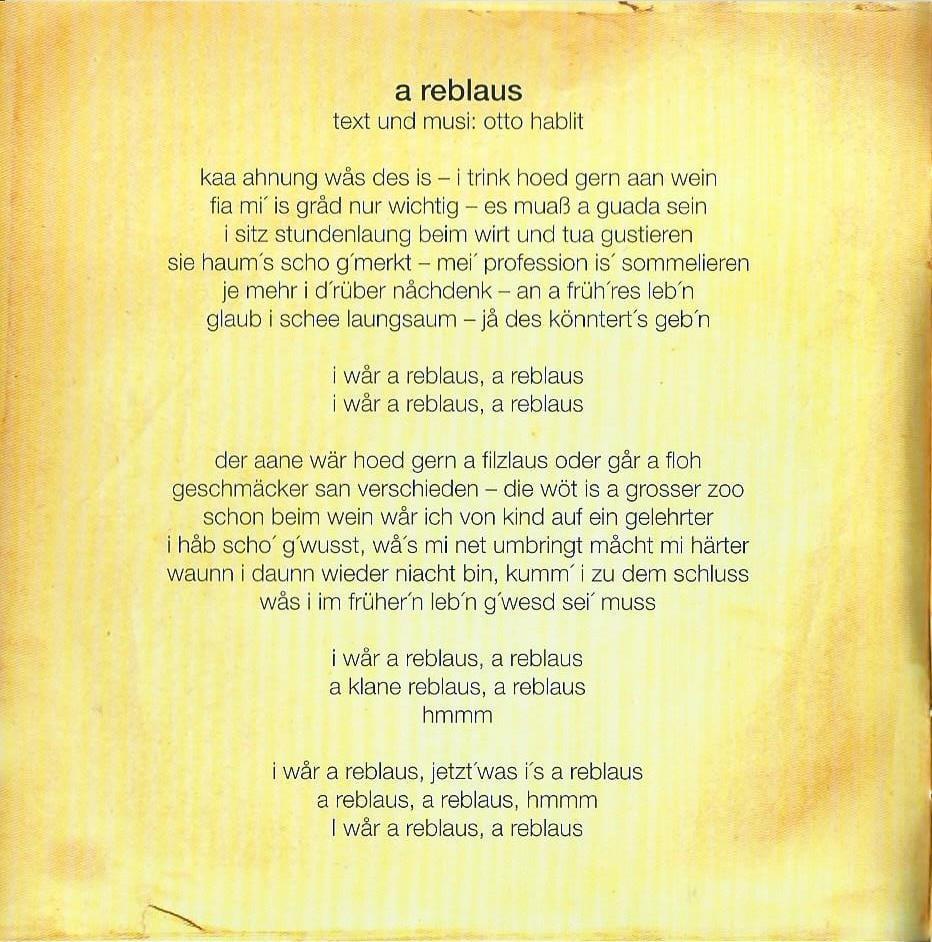 Huachts zua – Booklet – 2