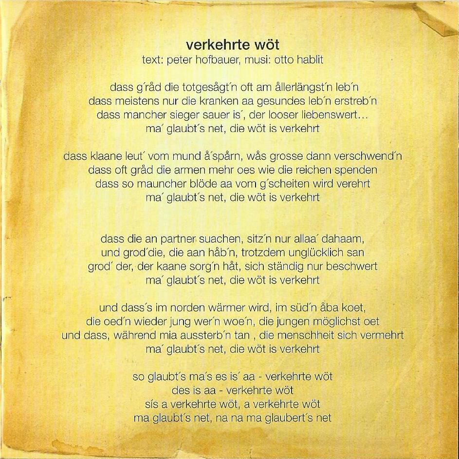 Huachts zua – Booklet – 3