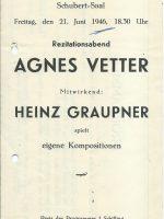 Schubert-Saal 21.06.1946 – 1