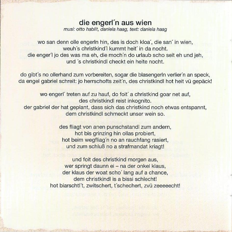 Wienerische Weihnachten – Booklet – 14