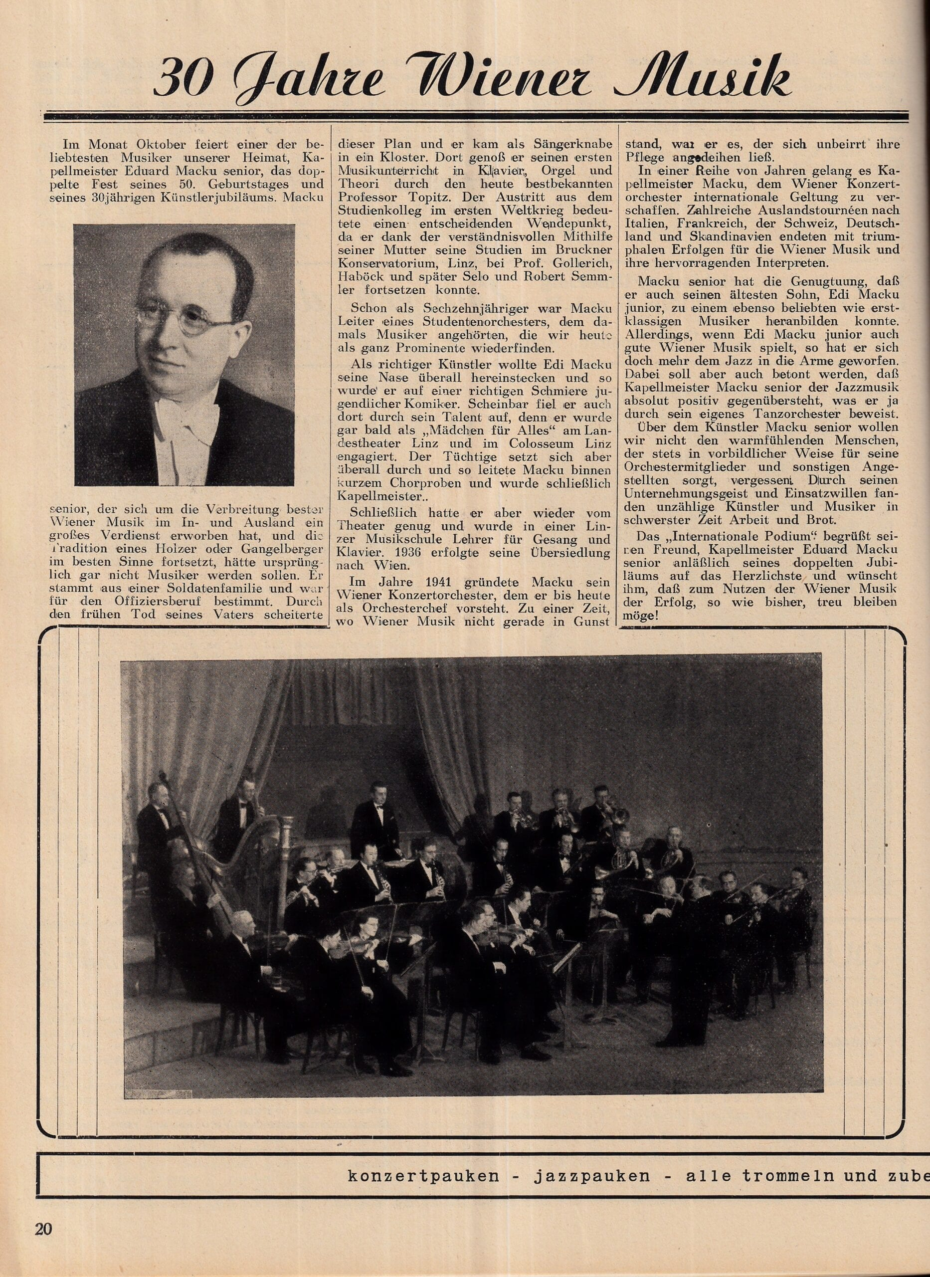1951 Okt. – Podium
