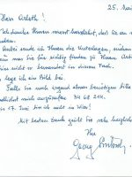 Brief G. Luksch an Arleth 25.05.1971