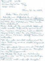 Brief Hub an Arleth 16.10.1994 – 1
