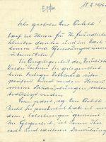 Brief Mikulik an Arleth 15.02.1960 – 1