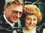 Franz Fasching mit Hermi Lechner Autogrammkarte – 1