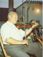 Franz Matousch beim Großheurigen in Pfaffstätten – 1974