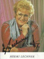 Hermi Lechner Autogrammkarte
