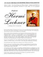 Hermi Lechner Nachruf – 1