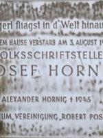 Josef Hornig Gedenktafel – 16., Blumbergg. 23