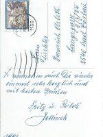 Karte Jellinek (2) an Arleth 1990 – 2