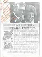 Notiz Lechner an Arleth ohne Datum