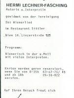 Restaurant Sittler 10.02.1980 – 2