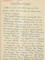 Brief Rathauscher an Arleth 08.02.1958 – 1