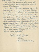 Brief Rathauscher an Arleth 08.02.1958 – 2