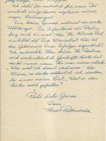 Brief Rathauscher an Arleth 08.02.1958 – 2