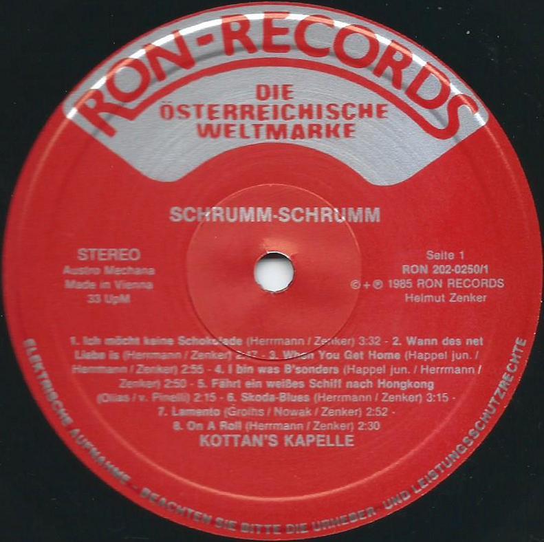 Ron-Records 202-0250/1 - Musik-Austria