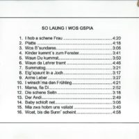 So laung i wos gspia – 4
