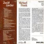 Zwölf Lieder Back Cover
