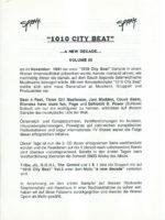 1010 City Beat, Vol. 3 – Promo 1
