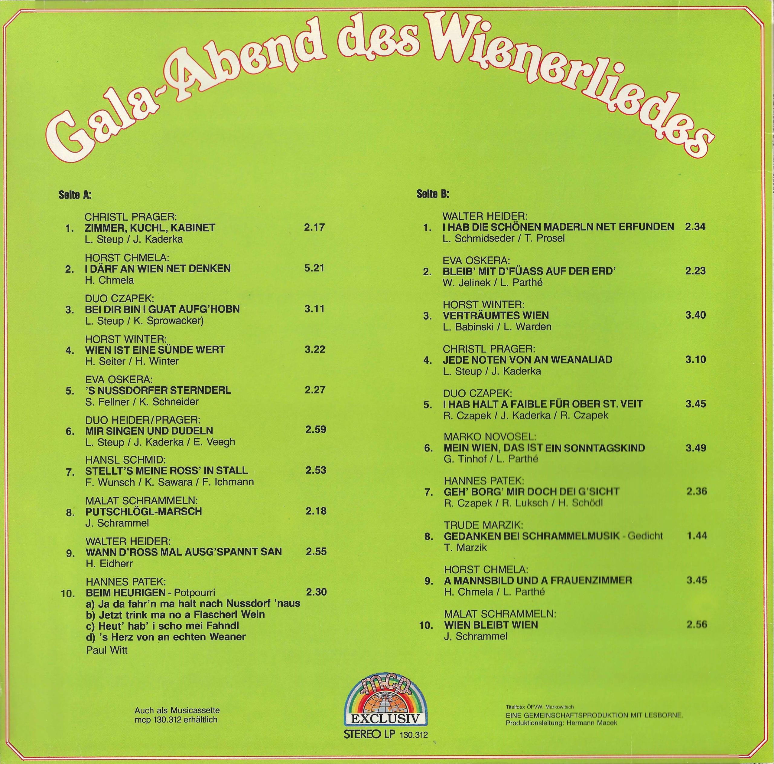 Gala-Abend des Wienerliedes – 2