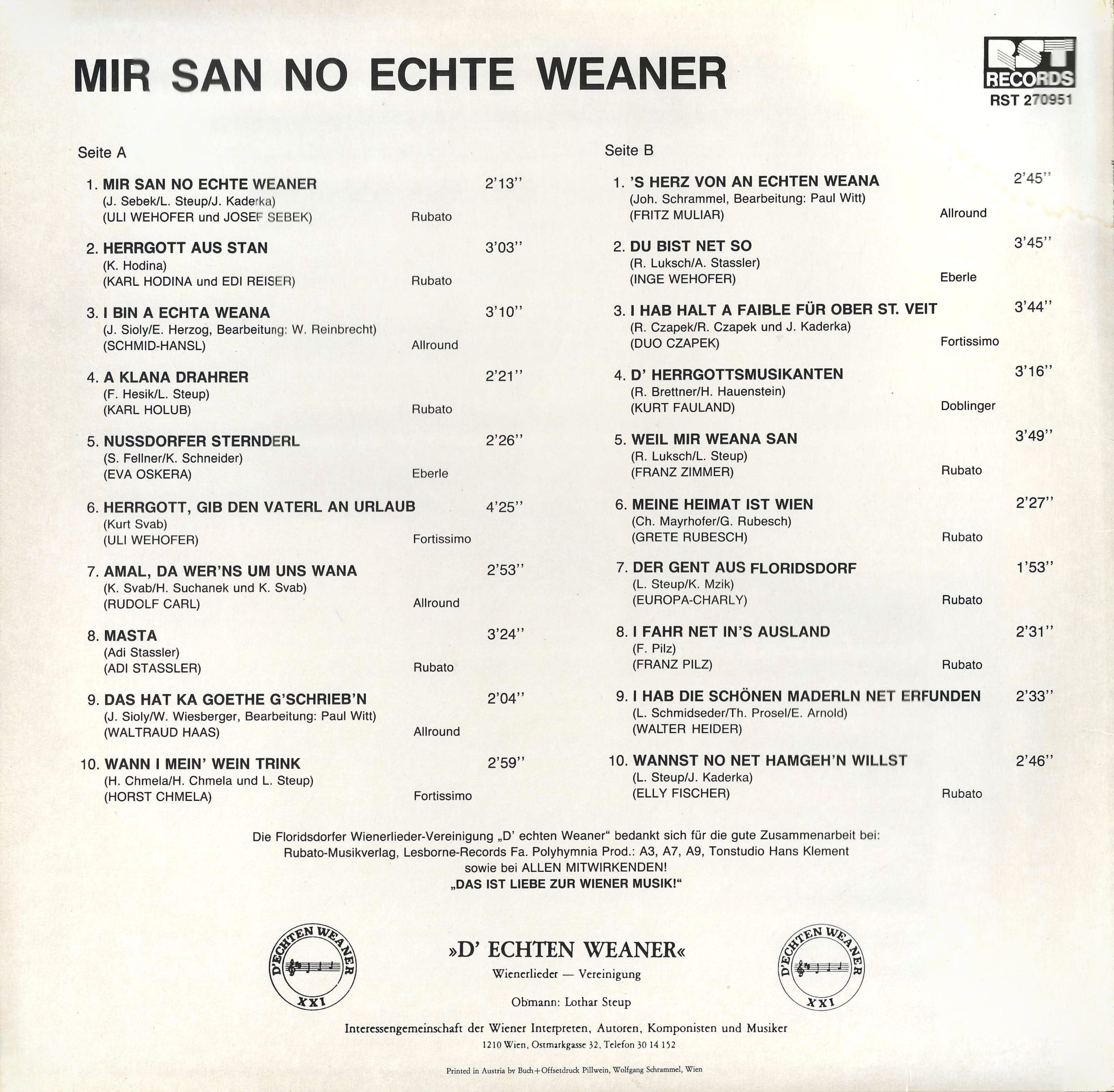 Mir san no echte Weaner – 2