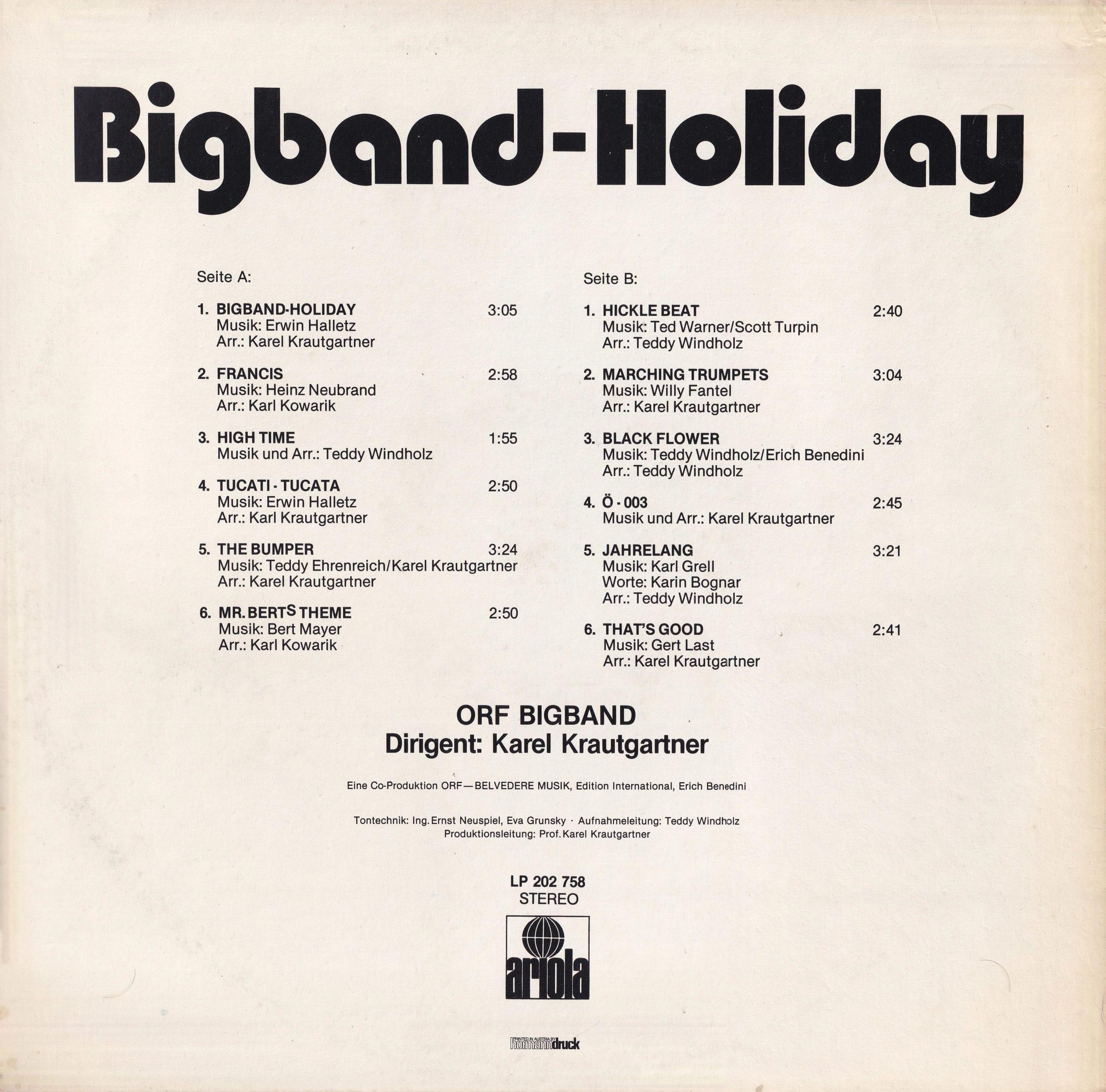 Bigband – Holiday – 2