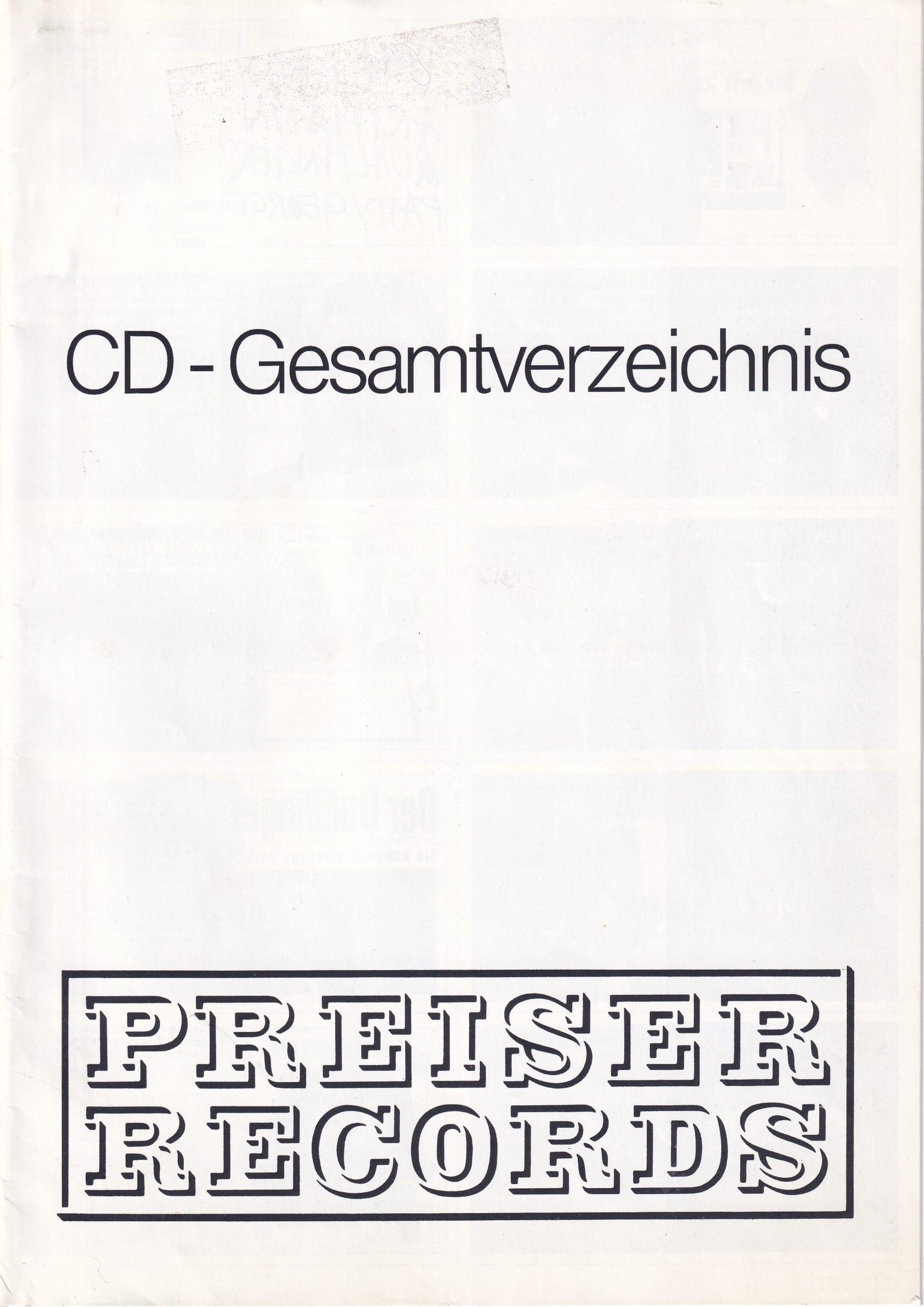 CD-Gesamtverzeichnis – 1