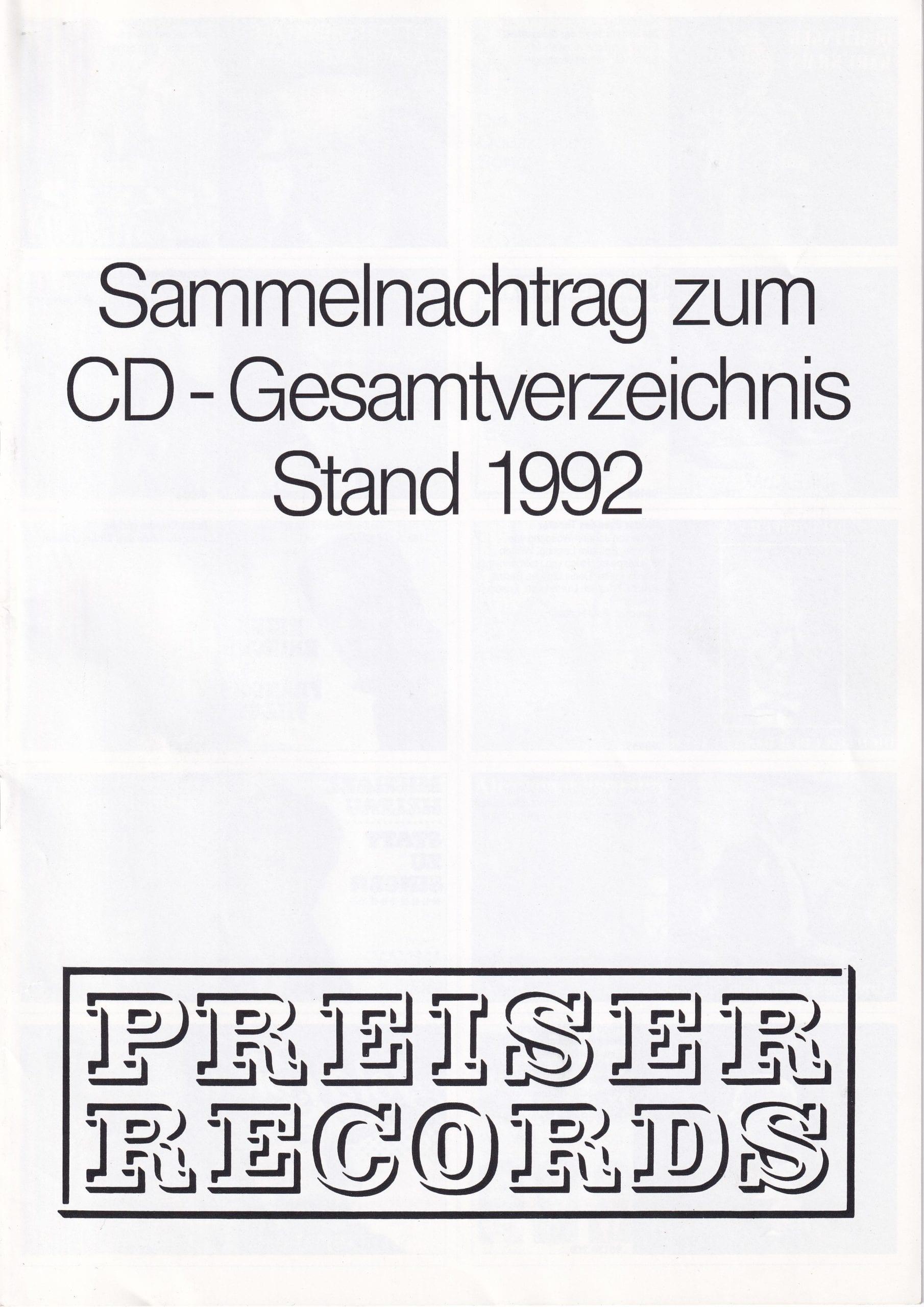 Nachtrag 1992 – 1