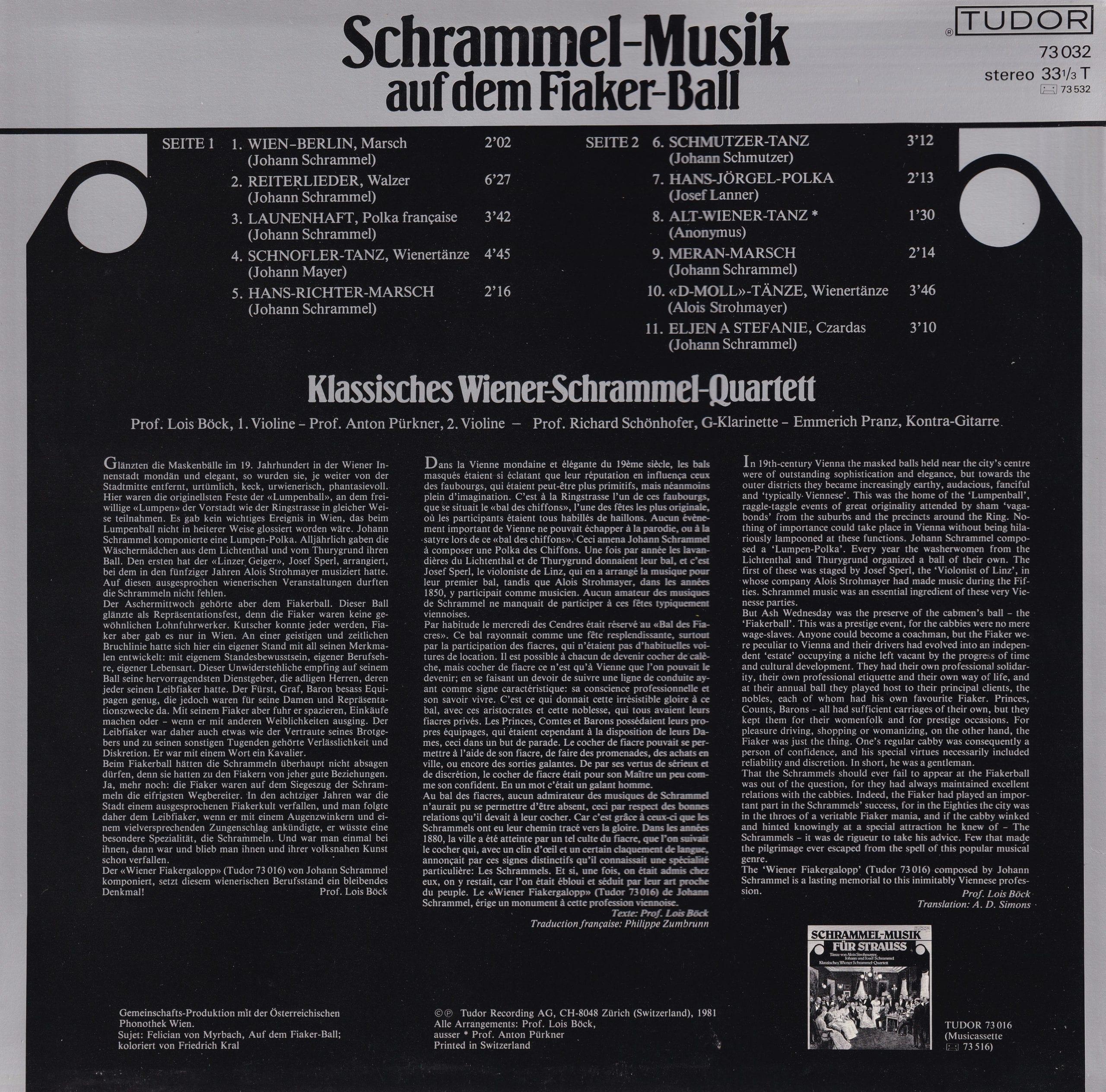 Schrammel-Musik auf dem Fiaker-Ball – 2