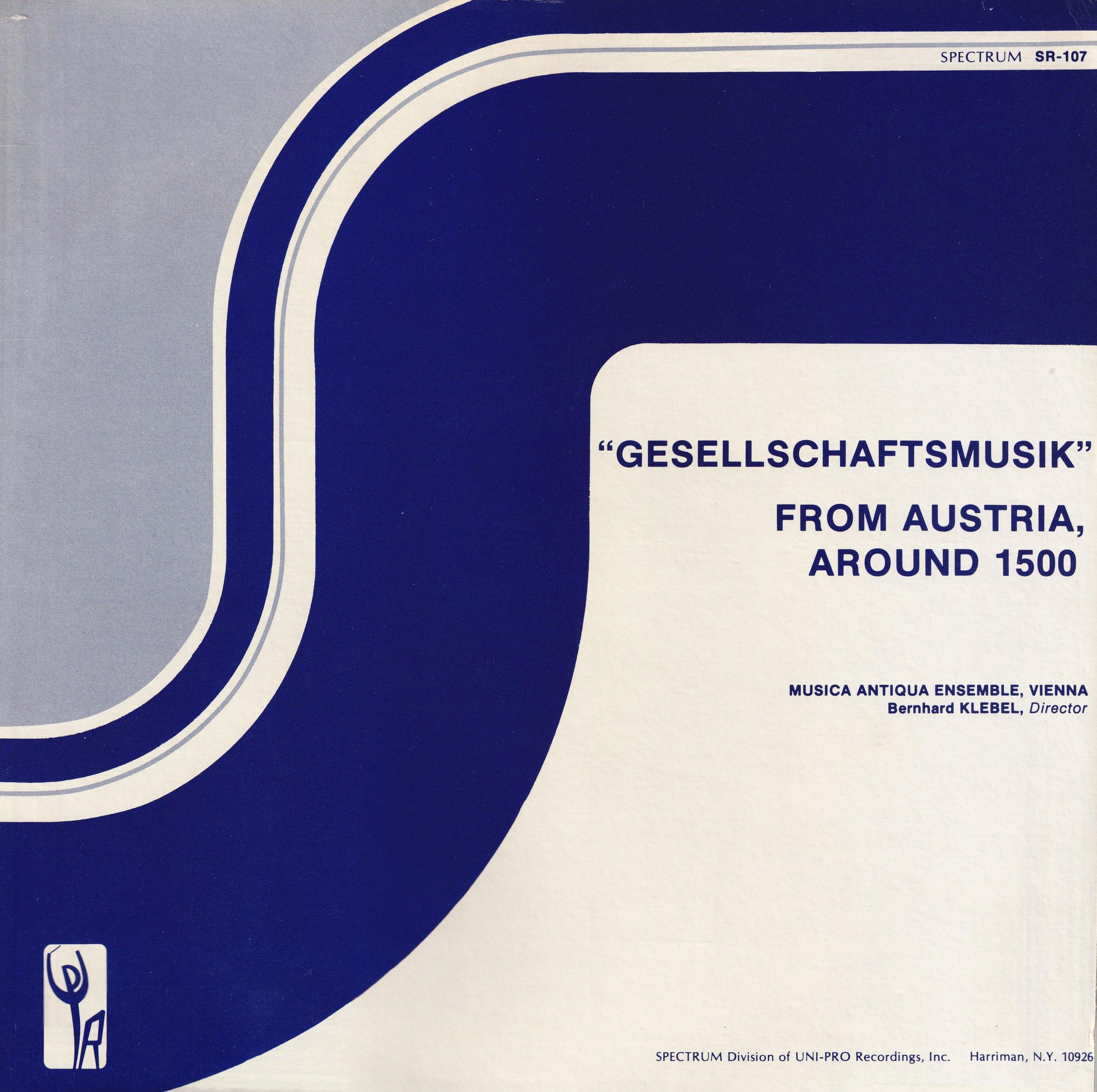 Gesellschaftsmusik from Austria around 1500 – 1