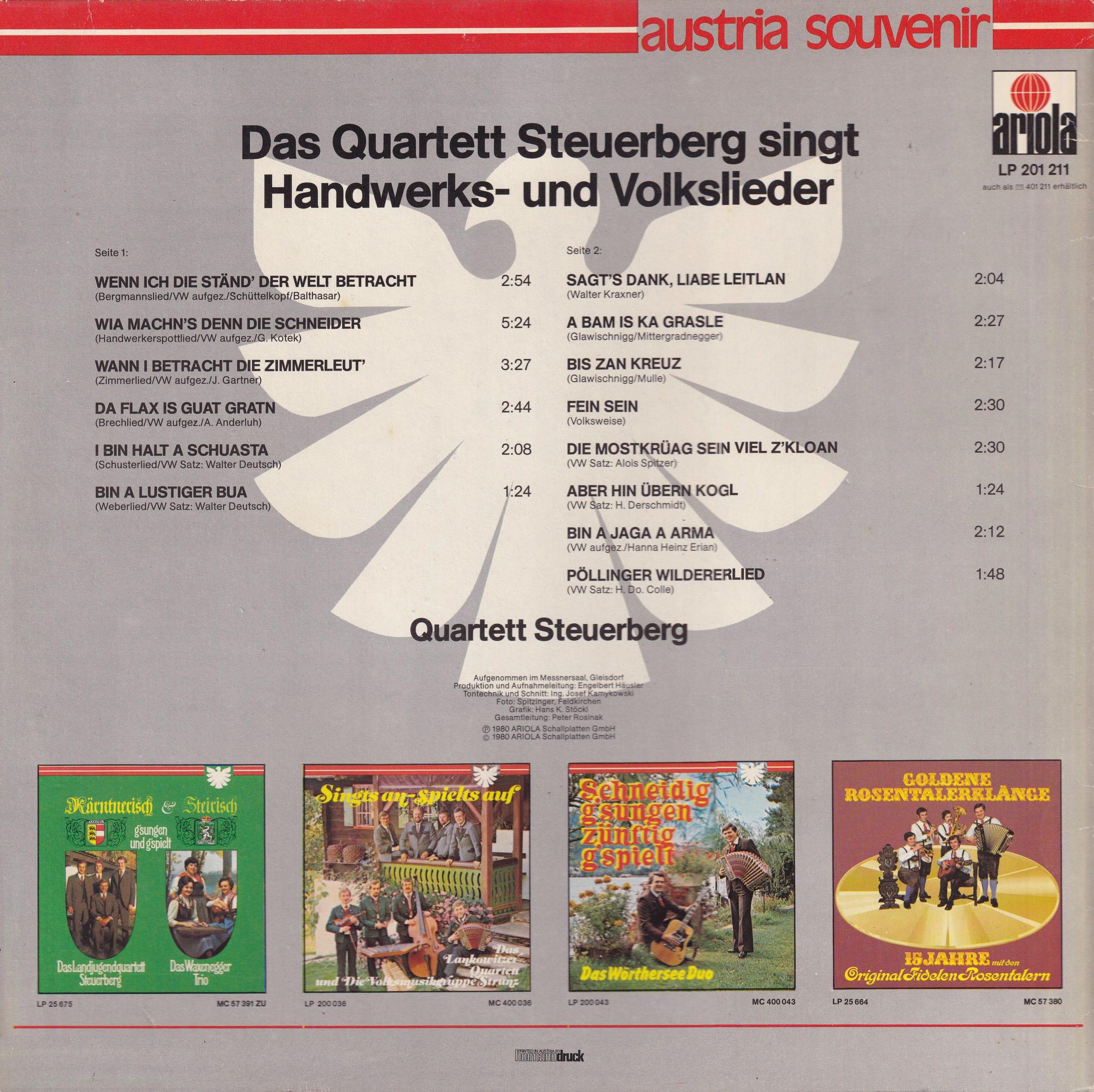 Handwerks- und Volkslieder – 2