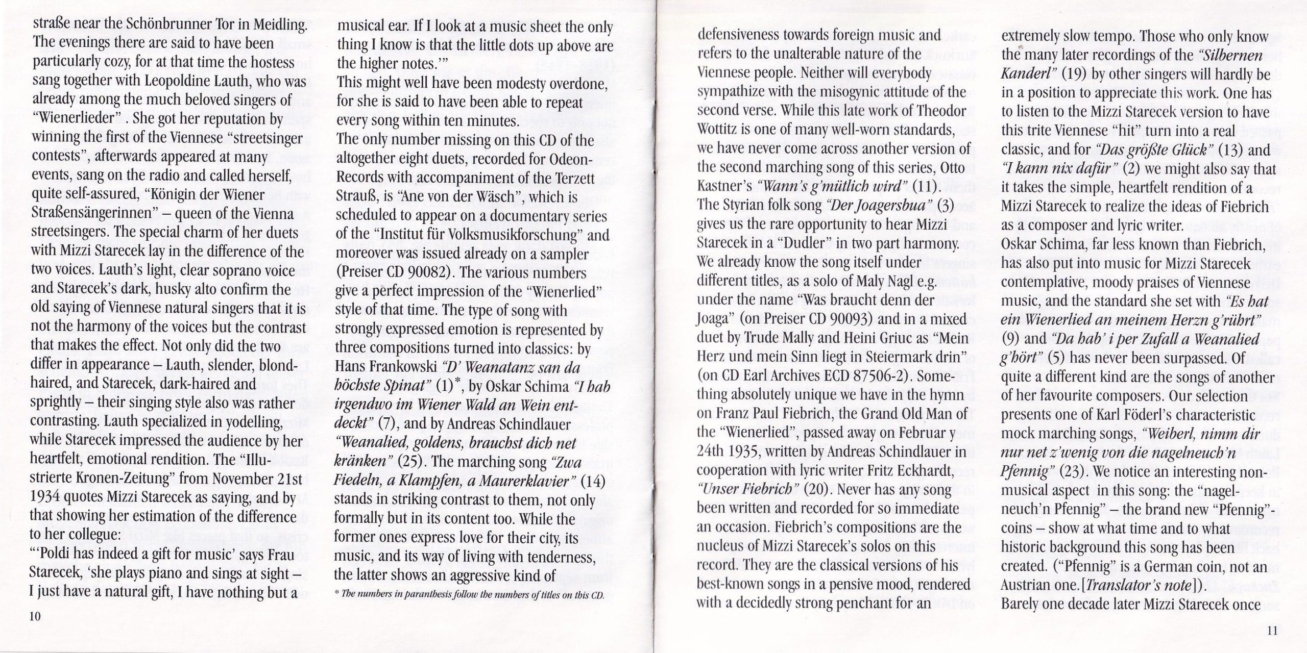 D Weanatanz san da höchste Spinat – Booklet – 10-11