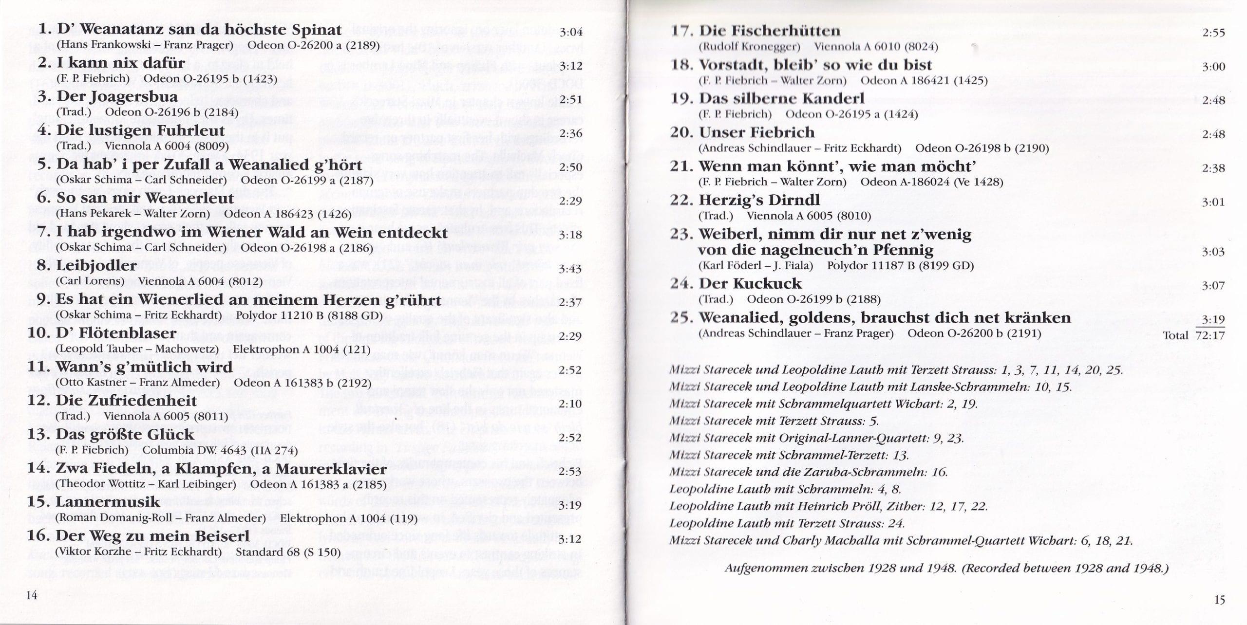 D Weanatanz san da höchste Spinat – Booklet – 14-15