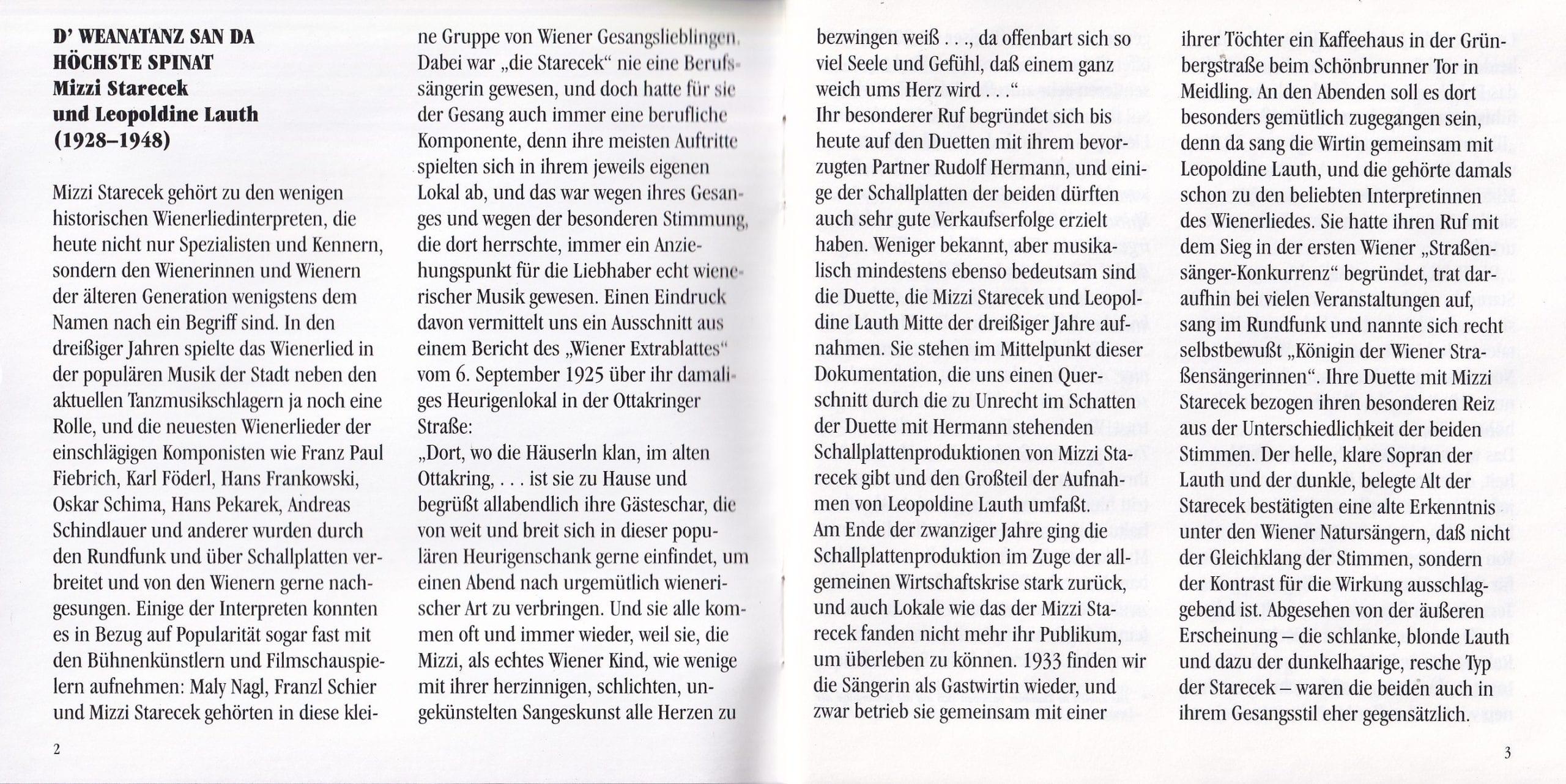 D Weanatanz san da höchste Spinat – Booklet – 2-3