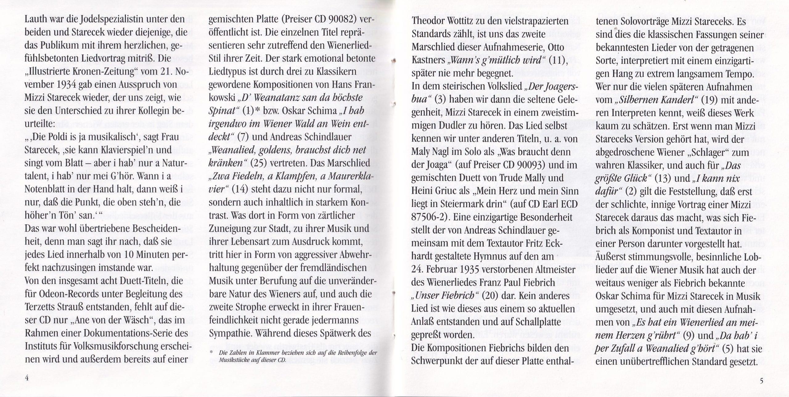 D Weanatanz san da höchste Spinat – Booklet – 4-5